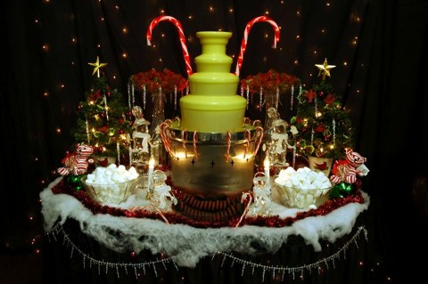 Christmas egg nog fountain chocolate fountain