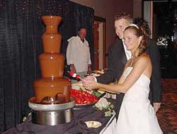 Chocolate Fountain Display Wedding Receptions pictures