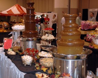 caramel chocolate fountain rental